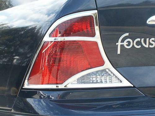 Chrome ABS plastic Tail Light Bezels for Ford Focus 1999-2004