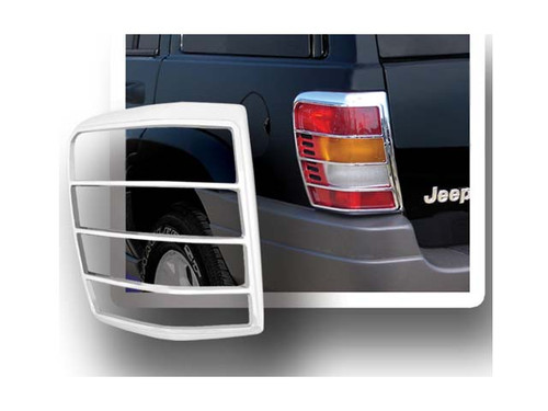 Chrome ABS plastic Tail Light Bezels for Jeep Grand Cherokee 1999-2004