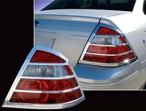 Chrome ABS plastic Tail Light Bezels for Mercury Montego 2005-2007