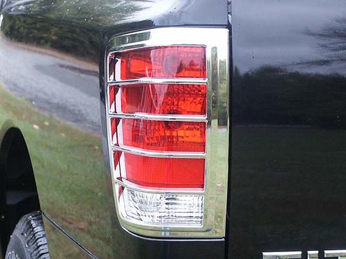 Chrome ABS plastic Tail Light Bezels for Nissan Titan 2004-2015