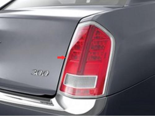 Chrome ABS plastic Tail Light Bezels for Chrysler 300 2011-2014