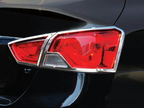 Chrome ABS plastic Tail Light Bezels for Chevrolet Impala 2014-2020