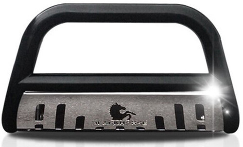 Black Horse    Black Bull Bar for Lexus LX570 2008-2016 with Stainless Steel Skid Plate