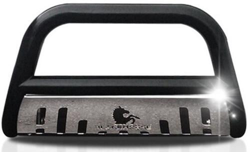 Black Horse |  Black Bull Bar for Dodge Dakota 1997-2004 with Stainless Steel Skid Plate