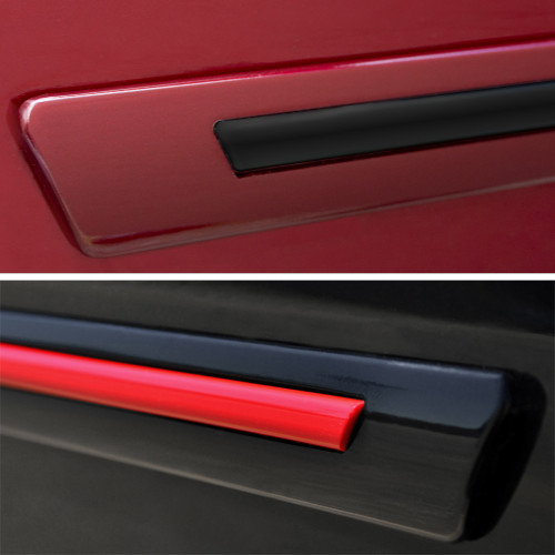 Painted Body Side Door Moldings W/Color Insert for CHEVROLET Silverado 1500-3500 CREW CAB 2019-2021