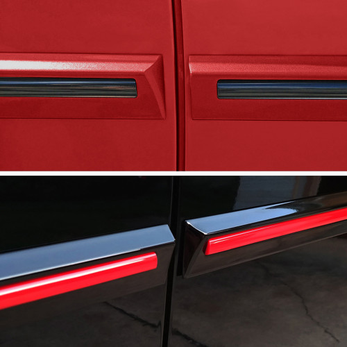 Painted Body Side Door Moldings W/Color Insert for VW Tiguan 2018-2020