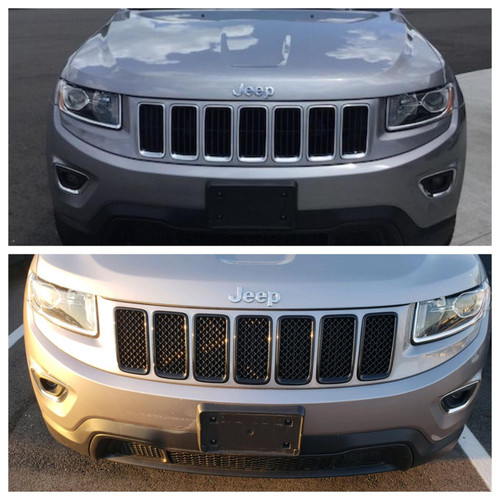 Glossy Black Grille Overlay for Jeep Grand Cherokee 2014-2016