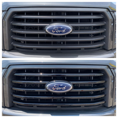 Glossy Black Grille Overlay for Ford F150 2015-2017