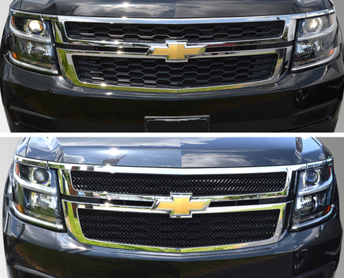 Glossy Black Grille Overlay for Chevy Suburban 2015-2020