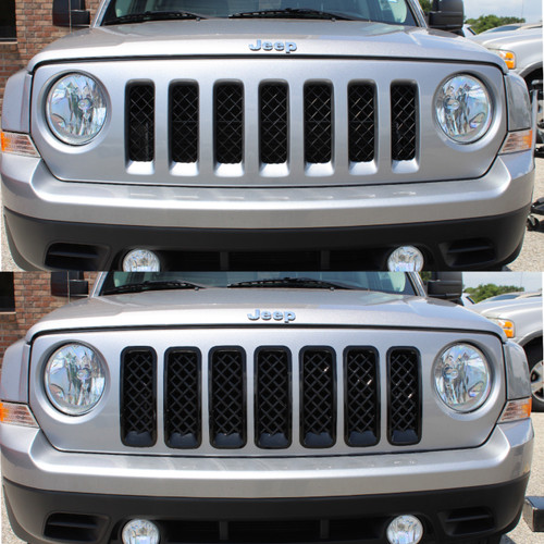 Glossy Black Grille Overlay for Jeep Patriot 2011-2017