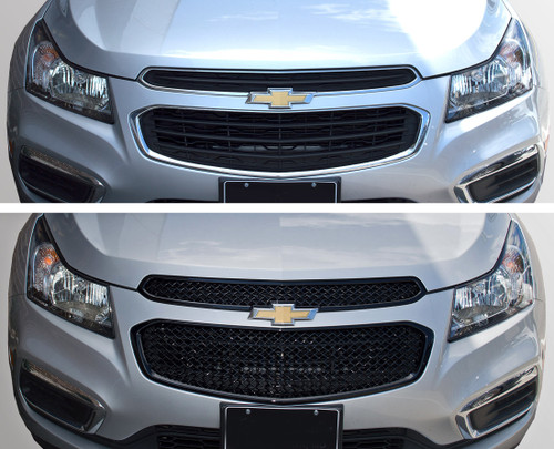 Glossy Black Grille Overlay for Chevy Cruze 2015-2016