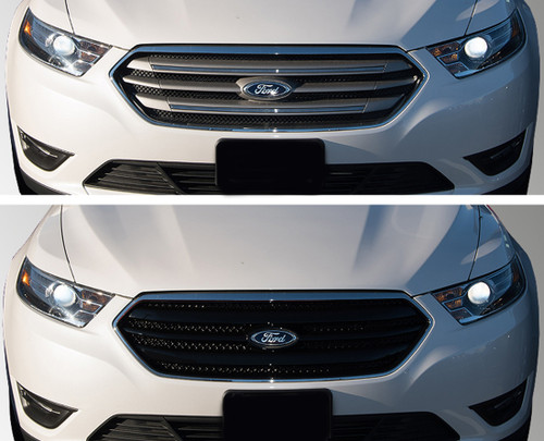 Glossy Black Grille Overlay for Ford Taurus 2013-2019