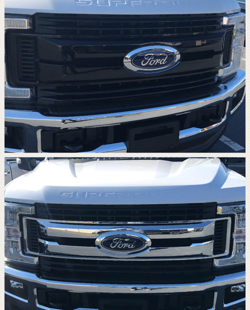 Glossy Black Grille Overlay for Ford Superduty 2017-2019