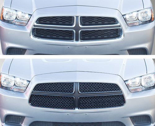 Glossy Black Grille Overlay for Dodge Charger 2011-2014