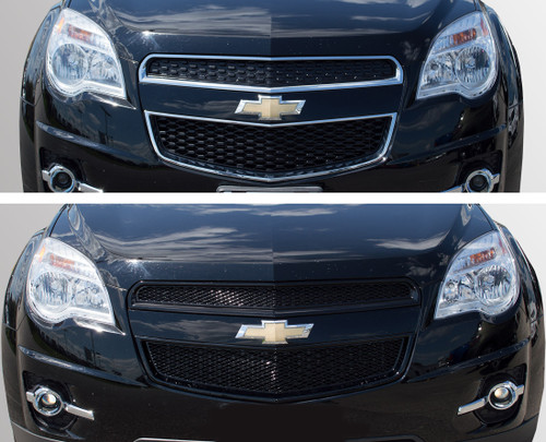 Glossy Black Grille Overlay for Chevy Equinox 2010-2015