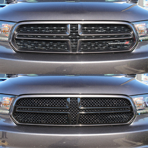 Glossy Black Grille Overlay for Dodge Durango 2014-2020