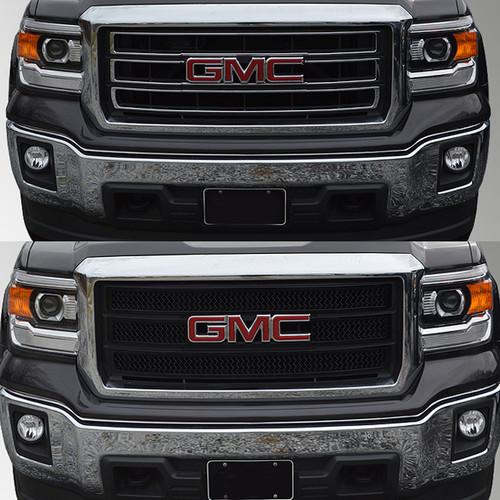 Glossy Black Grille Overlay for GMC Sierra 1500 2014-2015