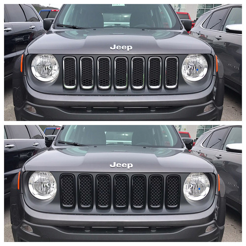 Glossy Black Grille Overlay for Jeep Renegade 2015-2019