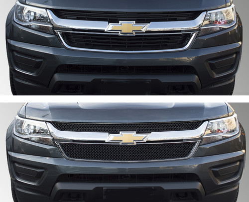 Glossy Black Grille Overlay for Chevy Colorado 2015-2020