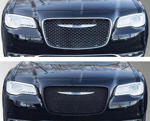 Glossy Black Grille Overlay for Chrysler 300 2015-2020