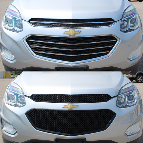 Glossy Black Grille Overlay for Chevy Equinox 2016-2017