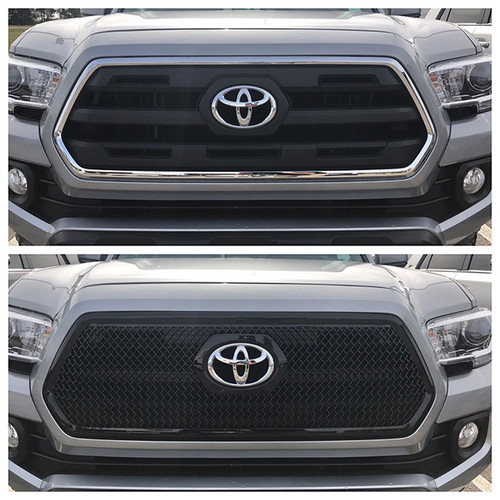 Glossy Black Grille Overlay for Toyota Tacoma 2016-2019