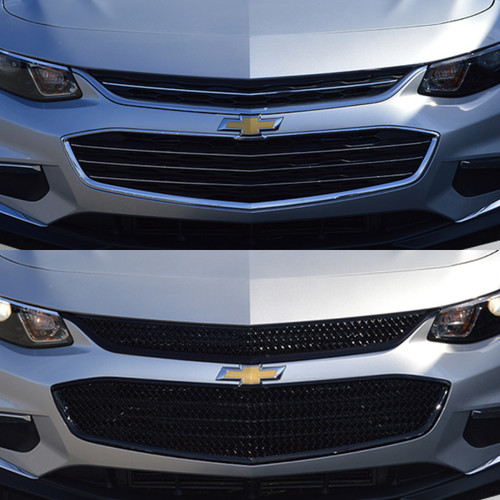 Glossy Black Grille Overlay for Chevy Malibu 2016-2018