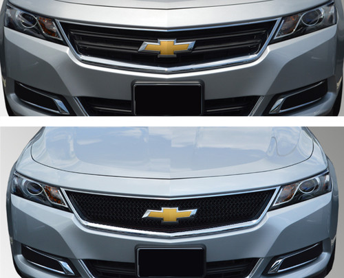 Glossy Black Grille Overlay for Chevy Impala 2014-2020