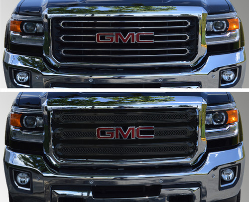 Glossy Black Grille Overlay for GMC Sierra HD 2015-2018