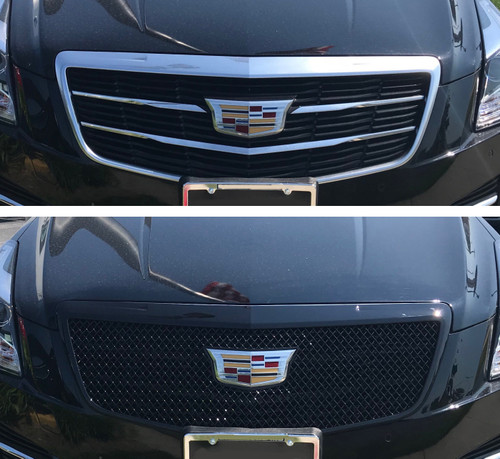 Glossy Black Grille Overlay for Cadillac ATS 2015-2018