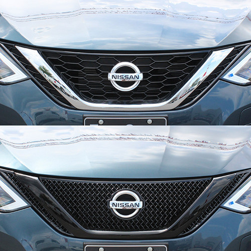 Glossy Black Grille Overlay for Nissan Sentra 2016-2019