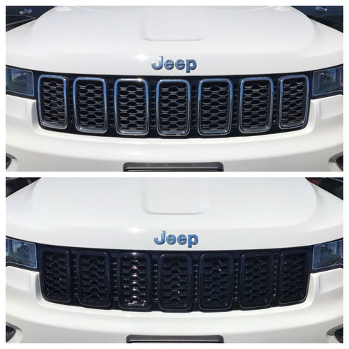 Glossy Black Grille Overlay for Jeep Grand Cherokee 2017-2020