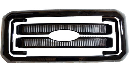 Glossy Black Grille Overlay for Ford Superduty 2011-2016