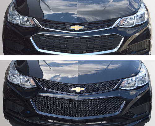 Glossy Black Grille Overlay for Chevy Cruze 2016-2018