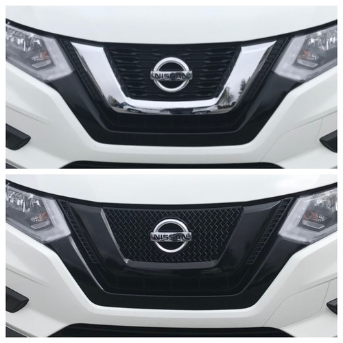 Glossy Black Grille Overlay for Nissan Rogue 2017