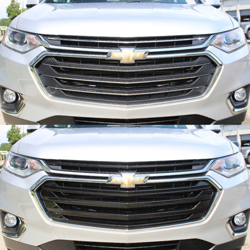 Glossy Black Grille Overlay for Chevy Traverse 2018-2020