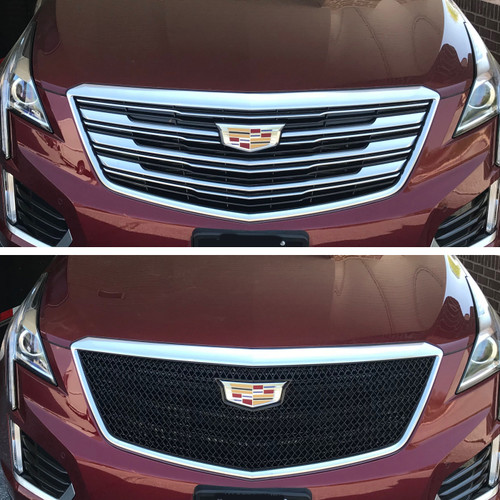 Glossy Black Grille Overlay for Cadillac XT5 2017-2019