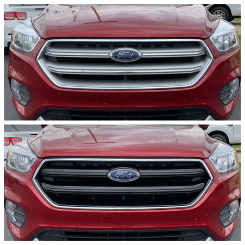 Glossy Black Grille Overlay for Ford Escape 2017-2019