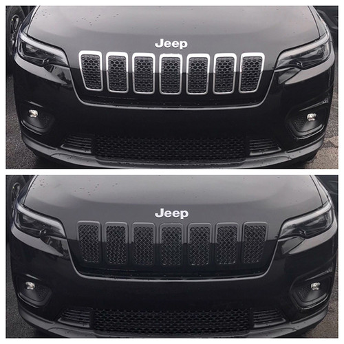 Glossy Black Grille Overlay for Jeep Cherokee 2019-2020