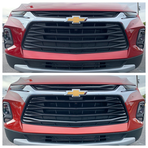Glossy Black Grille Overlay for Chevy Blazer 2020