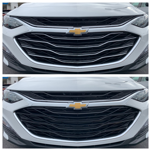Glossy Black Grille Overlay for Chevy Malibu 2019-2020
