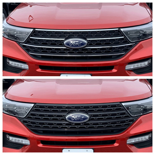 Glossy Black Grille Overlay for Ford Explorer 2020