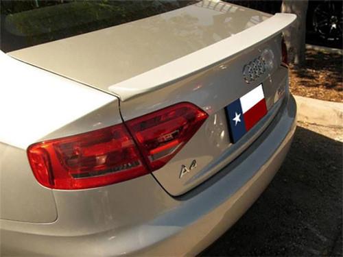 Audi A4 2009-2012 Factory Lip No Light Rear Trunk Spoiler