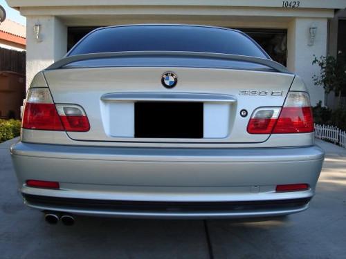 BMW 3-Series 2-Dr 2000-2006 Factory Post No Light Rear Trunk Spoiler