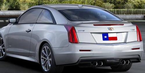 Cadillac ATS Coupe 2015-2017 Factory Lip No Light Rear Trunk Spoiler