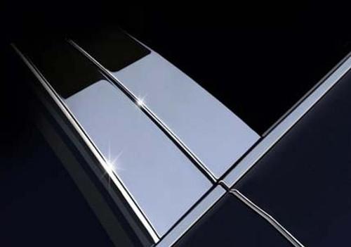 Chevy Silverado Crew Cab 2014-2020 Stainless Steel Chrome Pillar Posts 4PCS