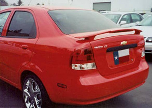 Chevrolet Aveo Sedan 2004-2006 Custom Post Lighted Rear Trunk Spoiler