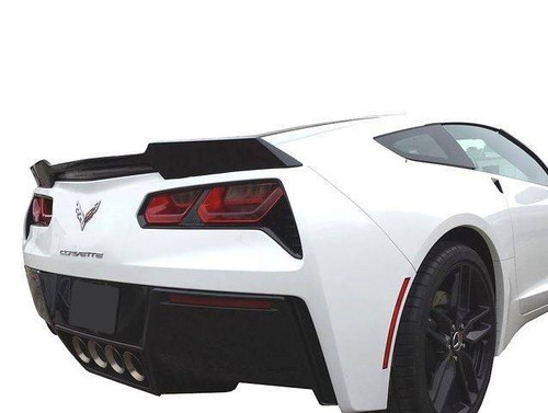 "Chevrolet Corvette (C7) 2014-2017 ""Wickerbill"" Inspired Custom Flush No Light Rear Trunk Spoiler"