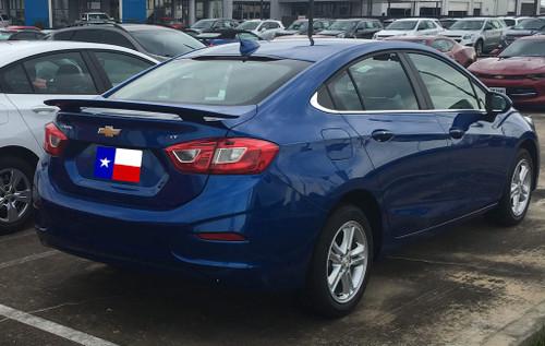 Chevrolet Cruze 2016-2017 Custom 2Post No Light Rear Trunk Spoiler