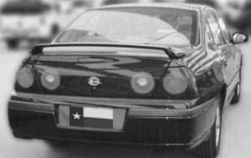 Chevrolet Impala 2000-2005 Factory Post No Light Rear Trunk Spoiler